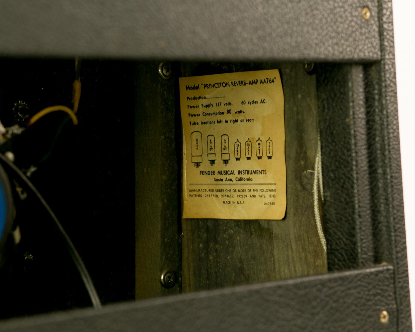 1969 Fender Princeton Reverb Drip Edge detail 3