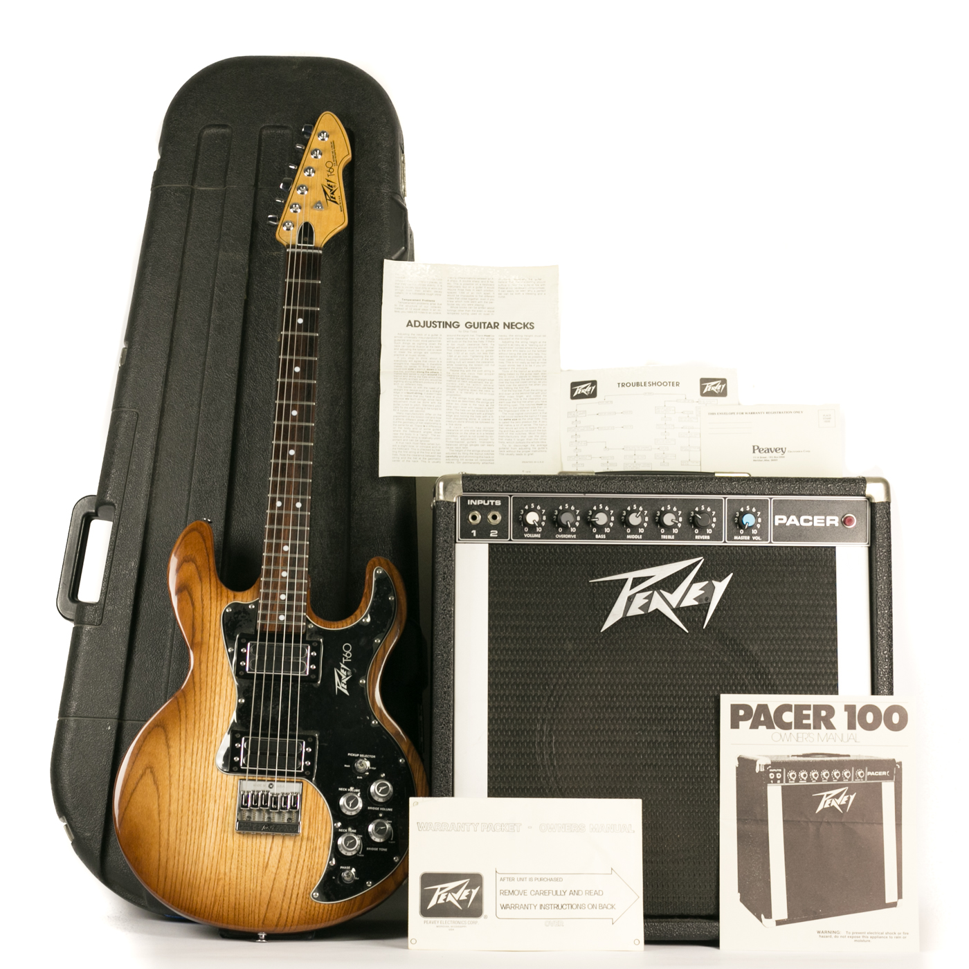 NOS 1980 Peavey T-60 w/ Matching Pacer Amplifier detail 0