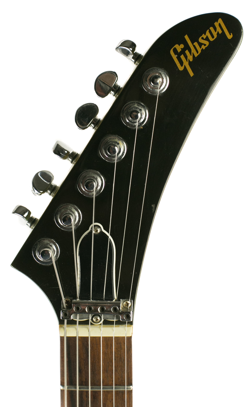 1984 Gibson Explorer Green-Burst detail 4