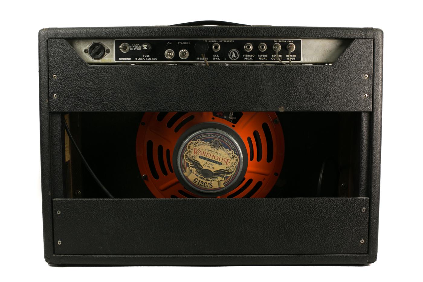 1967 Fender Deluxe Reverb Blackface detail 1