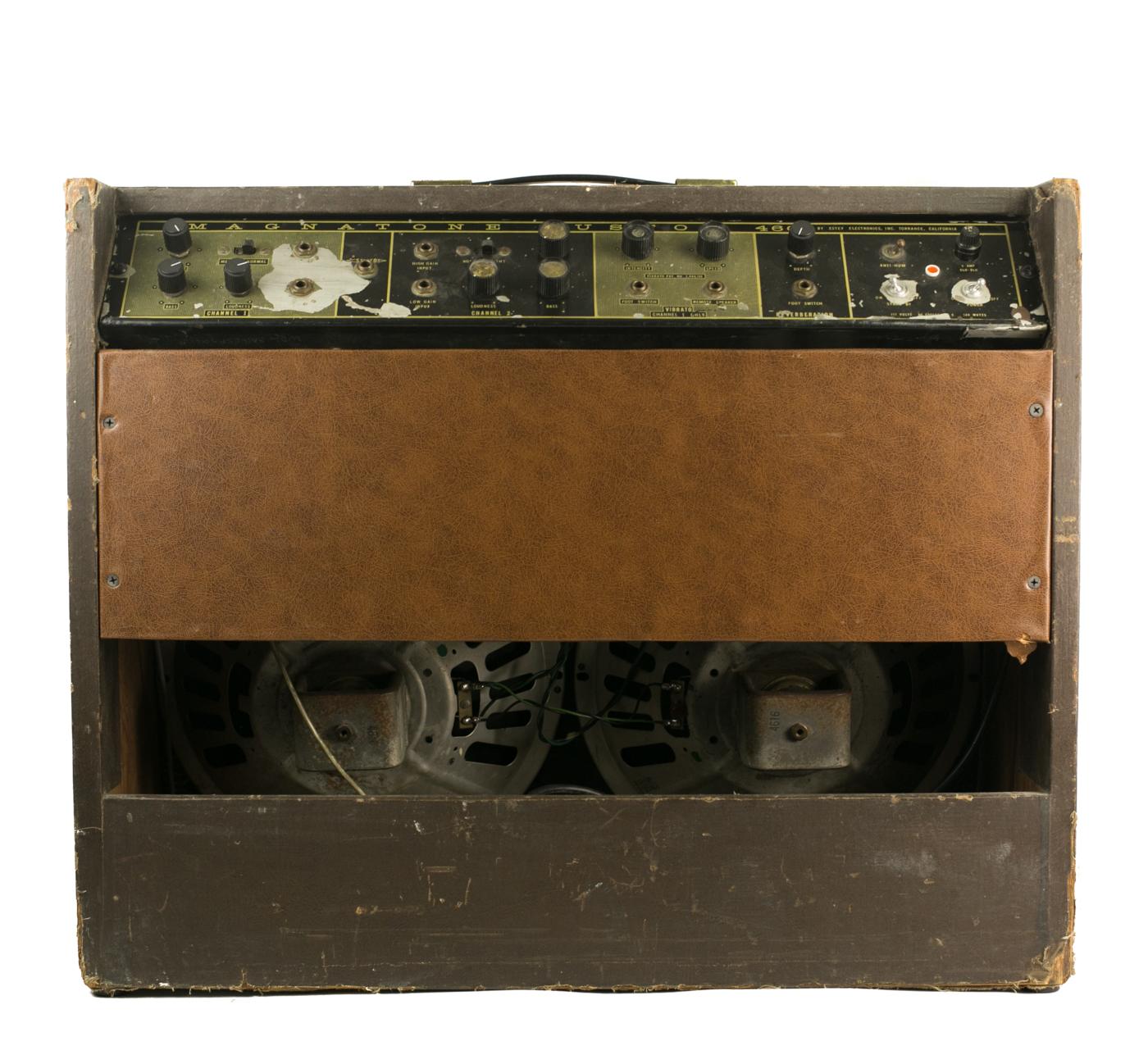 1960s Magnatone Custom 460 2×12 combo detail 1