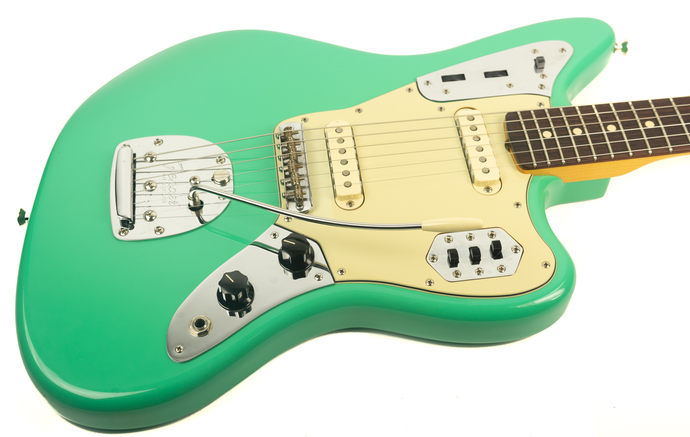 2008 Fender 62 Avri Thin Skin Jaguar Seafoam Green Detail 1