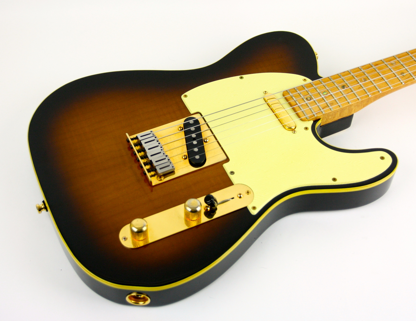 1988 Fender Custom Shop 40th Anniversary Telecaster Sunburst! detail 2