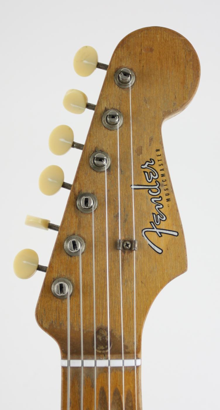 1957 Fender Musicmaster Gold Guard Worn detail 3