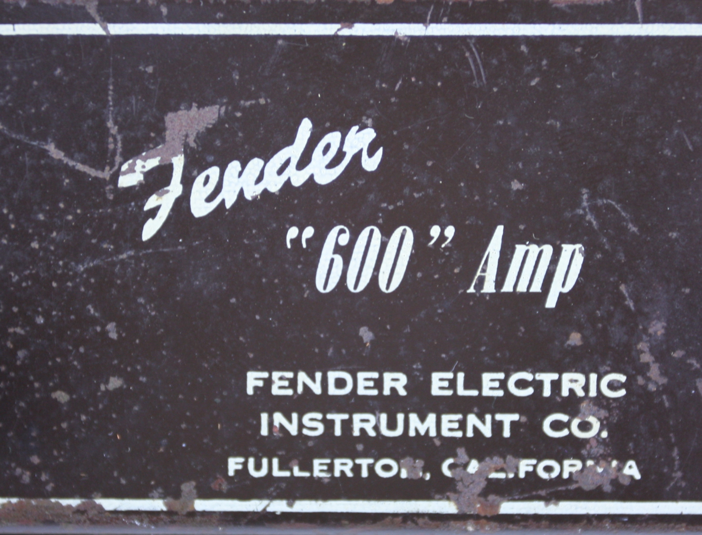 1953 Fender Champion 600 Amp detail 4